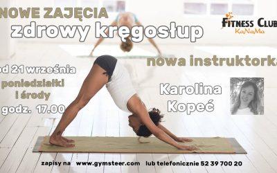Nowe zajęcia dla zdrowego kręgosłupa :)