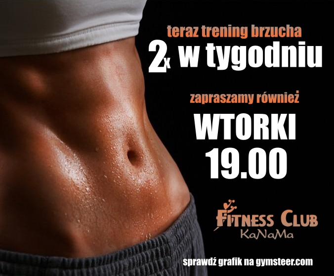 trening brzucha teraz 2x w tygodniu!